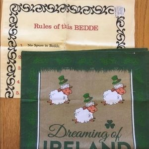 2 Vintage Tea Towels From Ireland 🇮🇪 Rules of This Bedde